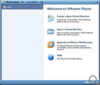 Interfata VMware Player, versiunea 3.1